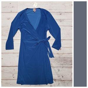 Anne Klein Blue Slinky Dress